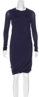 Brunello Cucinelli Long Sleeve Wool Dress