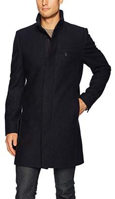 Ted Baker Men's Marvin Modern Slim Fit Wool Funnel Neck Overcoat