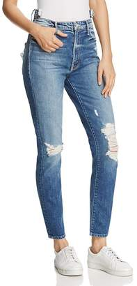 MOTHER The Dazzler Shift Distressed Jeans in Your Treat or Mine $275 thestylecure.com