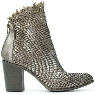 Strategia weave style ankle boots