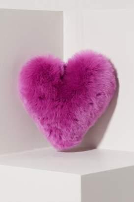 Loro Piana Heart mink fur keychain