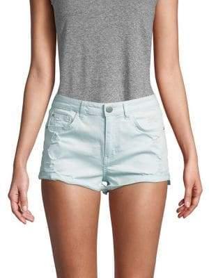 Design Lab Distressed Denim Shorts