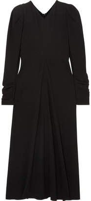 Isabel Marant Abi Gathered Crepe Midi Dress - Black