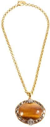 Roberto Cavalli Gold Metal Necklace