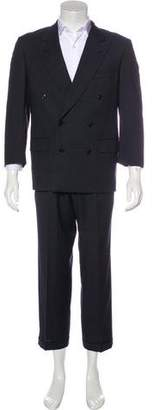 Valentino Double-Breasted Cropped Virgin Wool Suit