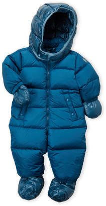ADD Newborn/Infant Boys) Blue Hooded Down Snowsuit