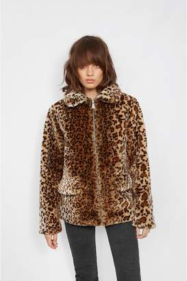 Anine Bing Molly Faux Fur Jacket - Leo