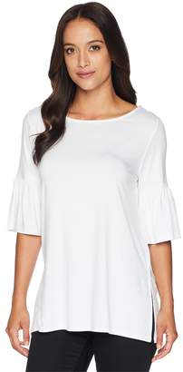 Karen Kane Side Slit Flare Sleeve Top Women's Clothing