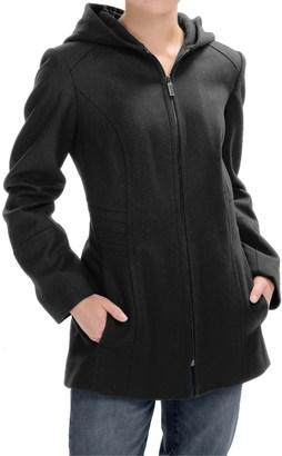 London Fog Full-Zip Car Coat - Wool Blend, Hooded (For Women) $59.99 thestylecure.com
