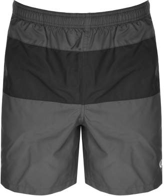 Fred Perry Panelled Swim Shorts Grey