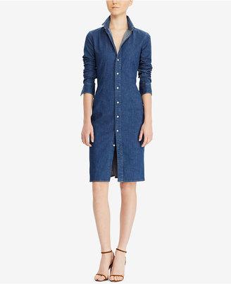 Polo Ralph Lauren Denim Shirtdress $245 thestylecure.com