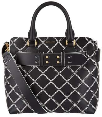 Burberry Small Embossed Belt Tote Bag