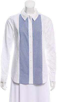 Draper James Long Sleeve Button-Up Top