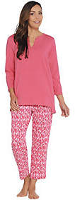 Stan Herman Jersey Knit Tunic and Slim PantLounge Set