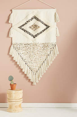 Anthropologie Ulla Embroidered Wall Art