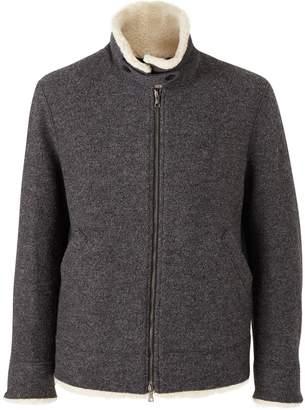 Harris Wharf London Short boiled wool and sheepskin coat