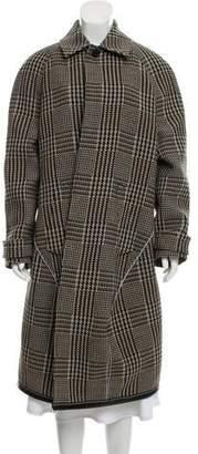 Balenciaga 2018 Houndstooth Long Coat