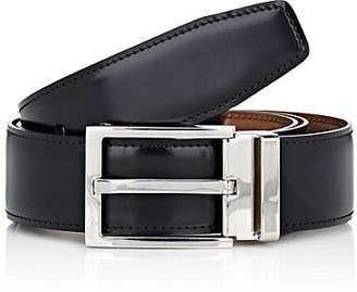 Salvatore Ferragamo Men's Double-Gancini-Buckle Reversible Leather Belt - Black