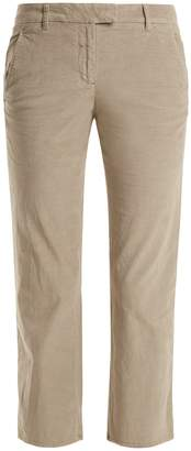 Masscob Fray-hem cropped cotton-blend trousers