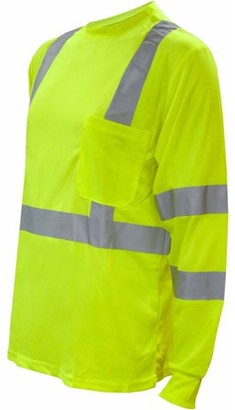 CORDOVA SAFETY PRODUCTS Cor-Brite Hi-Vis Orange Long Sleeve Shirt