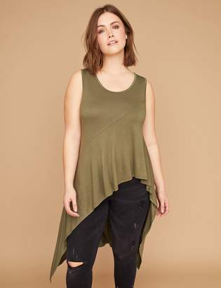 Lane Bryant Asymmetrical Scoop-Neck Tank