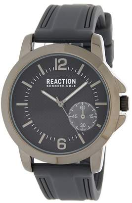 Kenneth Cole Reaction Men's 3 Hand Silicone Strap Watch, 46mm
