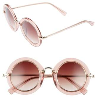 Derek Lam Madison 46mm Round Sunglasses