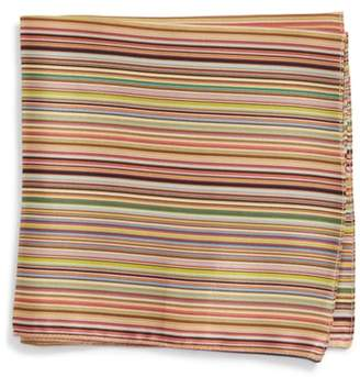Paul Smith Multistripe Silk Pocket Square