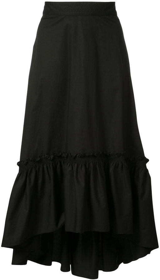 Trina Turk asymmetric pleated skirt