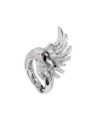 Boucheron 18k Diamond Cypris, The Swan Ring, Size 50
