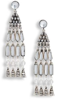 Tory Burch Crystal Tassel Earrings