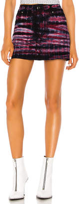 Frankie B. Cindy Denim Mini Skirt.