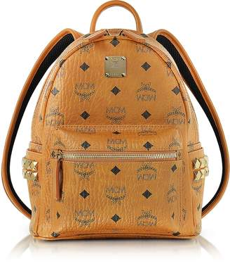 MCM Cognac Mini Stark Backpack