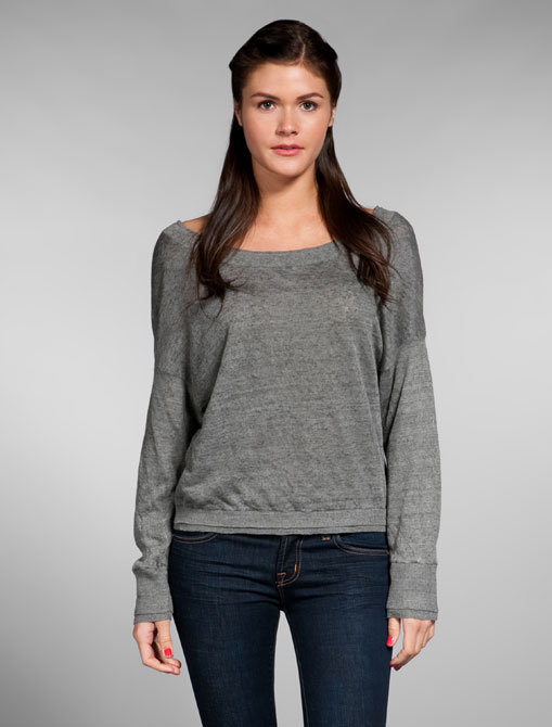Vince Slub Linen Dolman Pullover Sweater