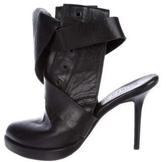 Haider Ackermann Leather Cutout Boots