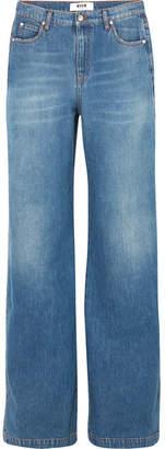 MSGM High-rise Wide-leg Jeans - Blue