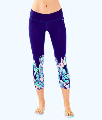 "Lilly Pulitzer Womens UPF 50+ Luxletic 21"" Jolena Weekender Cropped Legging"