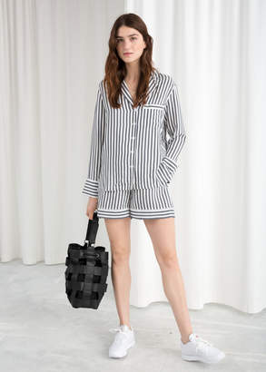 And other stories Striped Elasticated Shorts