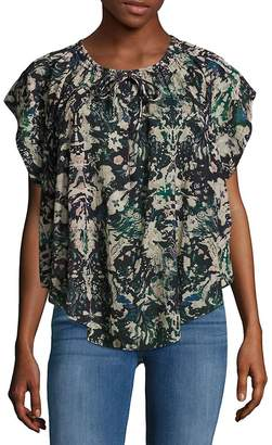 IRO Women's Iseline Relaxed Printed Top