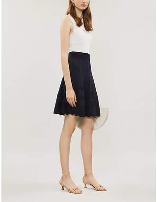 Ted Baker Contrast-skirt geometric knitted dress