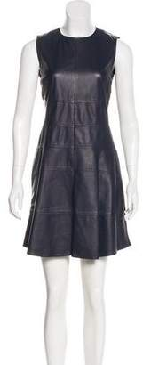 Belstaff Leather-Accented Mini Dress