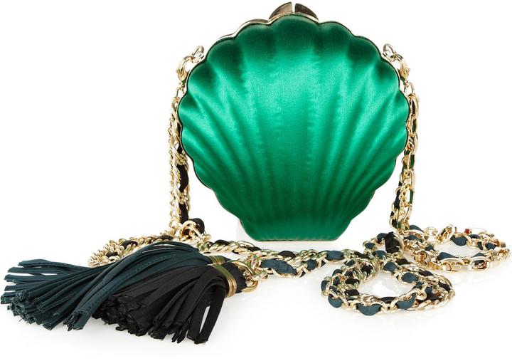 Lanvin Minaudière satin shell clutch
