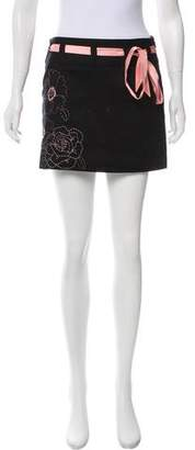 Laundry by Shelli Segal Embroidered Mini Skirt