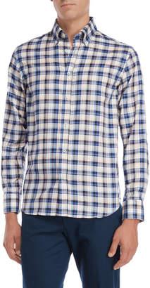 James Tattersall Plaid Button-Down Shirt