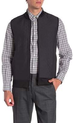 Perry Ellis Quilted Full Zip Vest