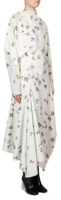 Acne Studios Floral Cotton Wrap Dress
