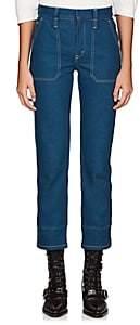 Chloé Women's Straight-Leg Crop Jeans - Blue