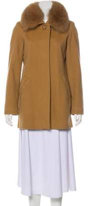 Sofia Cashmere Wool Collar Coat