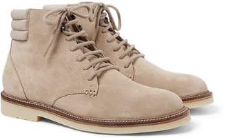 Loro Piana Icer Walk Cashmere-Trimmed Suede Boots - Beige