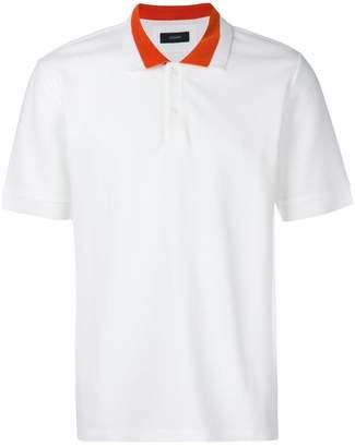 Joseph contrast collar polo shirt